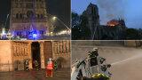 Walczyli o każdy centymetr katedry. Nowe nagranie z akcji strażaków