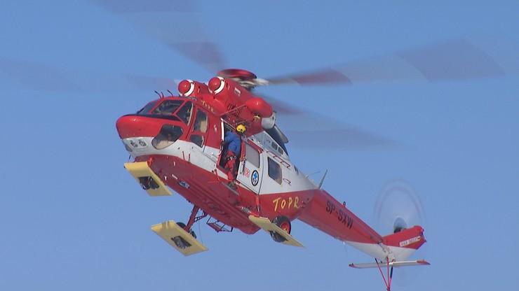 Wypadek na Kasprowym Wierchu. 10-latek zabrany śmigłowcem do szpitala