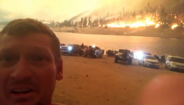 Pożar w Kalifornii. Ogień odciął drogę ucieczki ponad 200 osobom