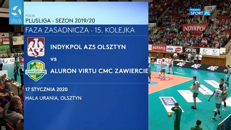 Indykpol AZS Olsztyn – Aluron Virtu CMC Zawiercie 1:3. Skrót meczu