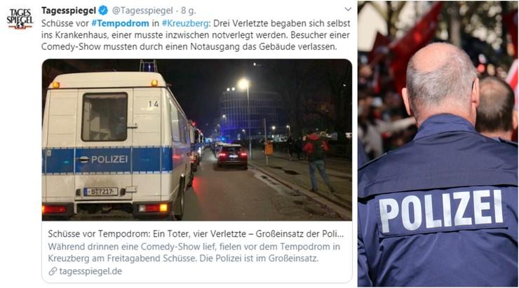 Strzelanina przed halą widowiskową w Berlinie