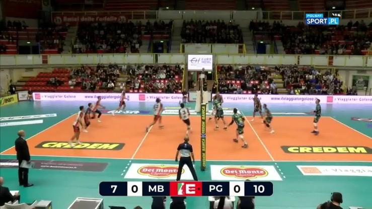 Vero Volley Monza - Sir Safety Conad Perugia 2:3. Skrót meczu