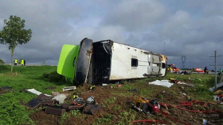 Wypadek autokaru we Francji. 33 osoby ranne, wśród nich wielu obcokrajowców