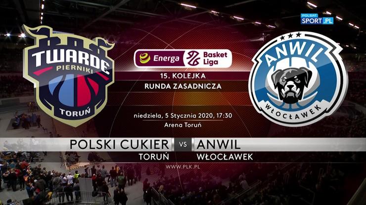 Polski Cukier Toruń - Anwil Włocławek 86:102. Skrót meczu
