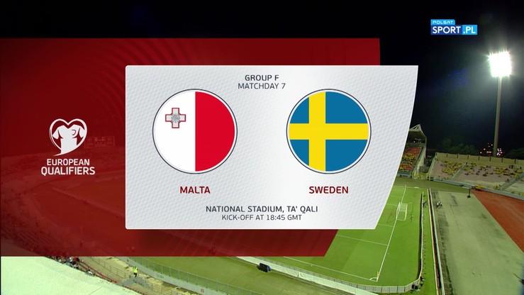 Malta - Szwecja 0:4. Skrót meczu