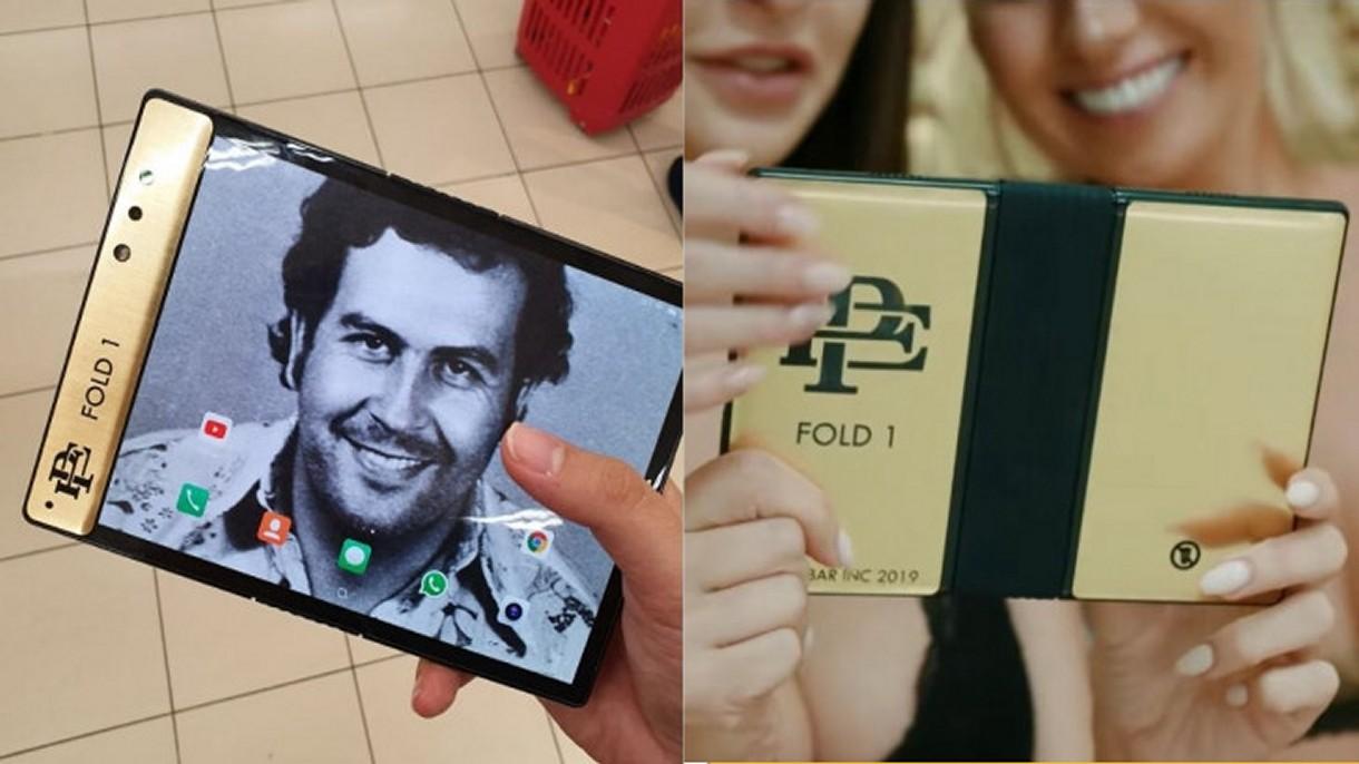 Brat Pablo Escobara zaprezentował składany smartfon i straszy Apple pozwem