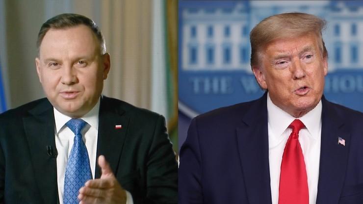 """""""Polska wysyła wojskową misję medyczną do Chicago"""". Szczegóły rozmowy Duda-Trump"""