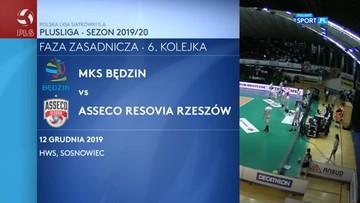 MKS Będzin - Asseco Resovia Rzeszów 2:3. Skrót meczu