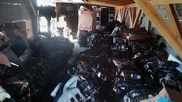 Kradli audi, mercedesy, bmw i volvo. W dziupli ponad 170 silników