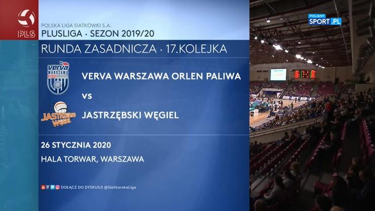 Verva Warszawa Orlen Paliwa - Jastrzębski Węgiel 3:0. Skrót meczu