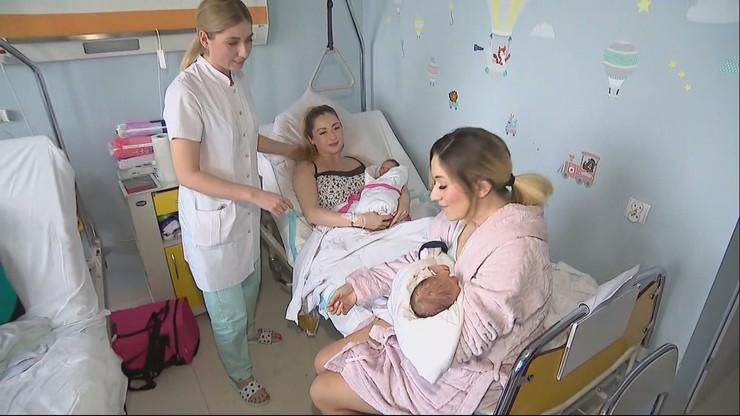 Siostry wprost z sylwestra trafiły na porodówkę. Porody odebrała... trzecia siostra