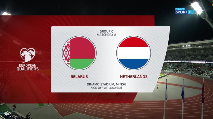 Białoruś - Holandia 1:2. Skrót meczu
