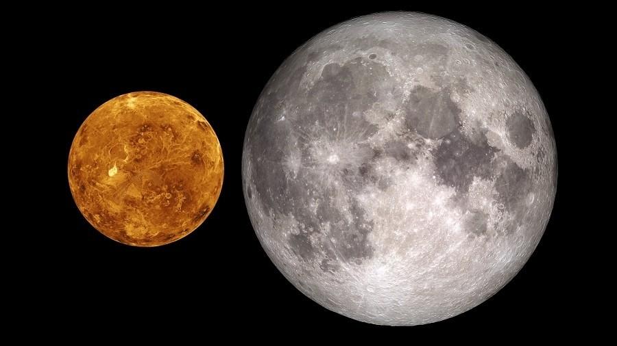 Księżyc i Wenus. Fot. Max Pixel.