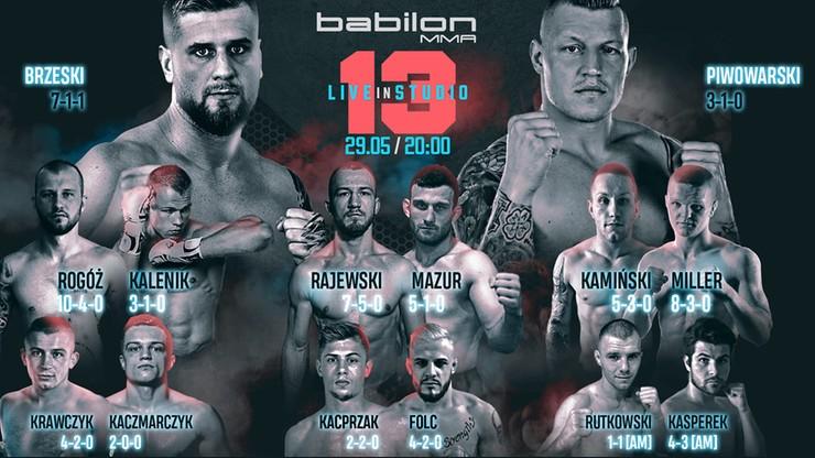 Sporty walki na żywo wracają! Oglądaj ważenie przed galą Babilon MMA 13 od 16:00