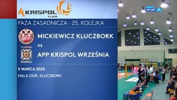 Krispol 1. Liga siatkarzy: Mickiewicz Kluczbork – APP Krispol Września 3:2. Skrót meczu