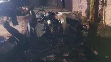 Dwóch młodych mężczyzn zginęło, trzeci walczy o życie. Tragiczny wypadek w Małopolsce