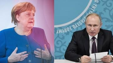 """""""Donbas zasługuje na specjalny status"""". Putin i Merkel w rozmowie telefonicznej"""