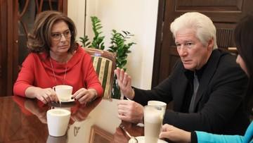 Richard Gere w Sejmie. Spotkał się m.in. z Małgorzatą Kidawą-Błońską