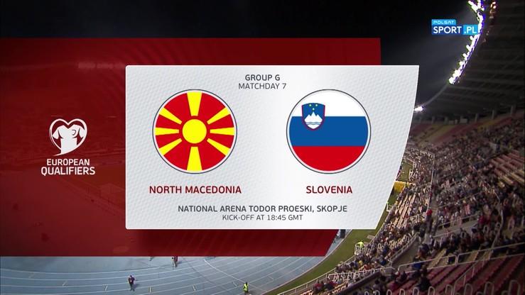 Macedonia Północna - Słowenia 2:1. Skrót meczu