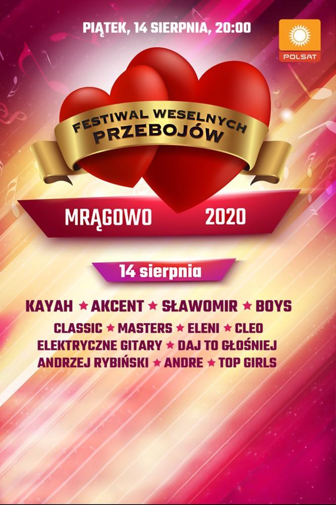 2020-07-24 Festiwal Weselnych Przebojów 2020. Kto wystąpi? - Polsat.pl