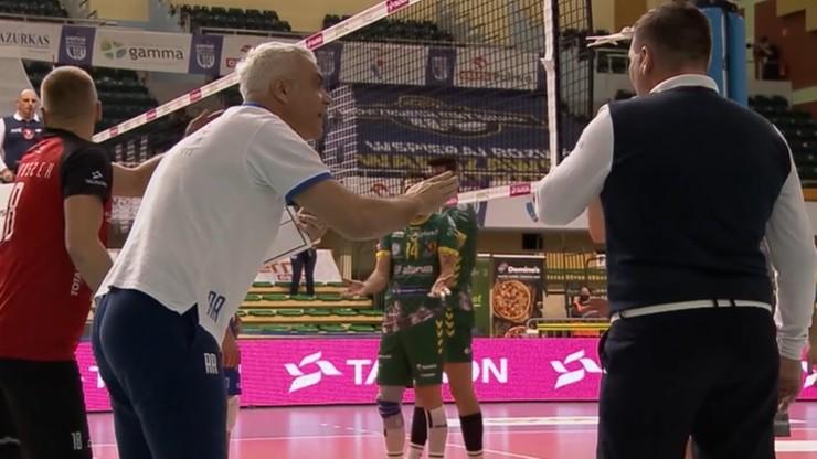 Awantura w Warszawie! Wściekły Andrea Anastasi kłócił się z sędzią i zawodnikami (WIDEO)