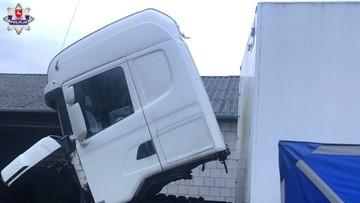 39-latek naprawiał ciężarówkę, przygniotła go kabina