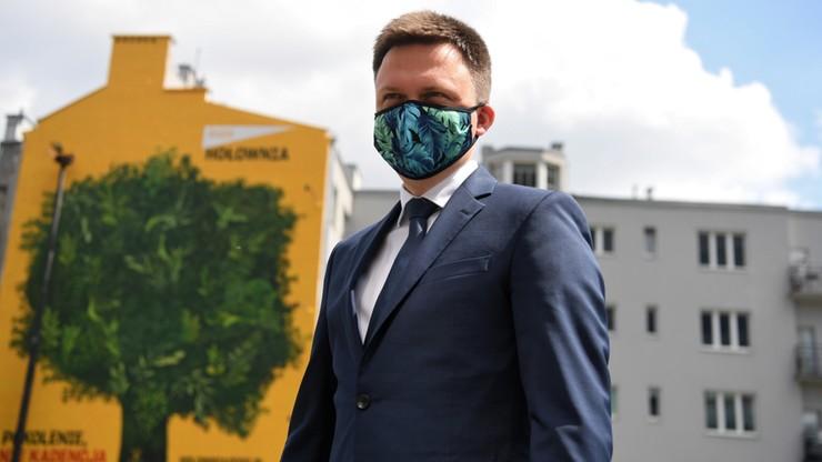 """""""Wizja prezydentury"""" Hołowni. Kandydat pokazał ją na eko muralu"""