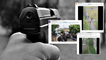 Strzelanina pod Kijowem z udziałem stu osób [WIDEO]