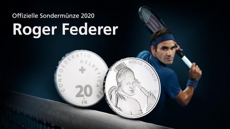 Podobizna Rogera Federera na 20 frankach szwajcarskich