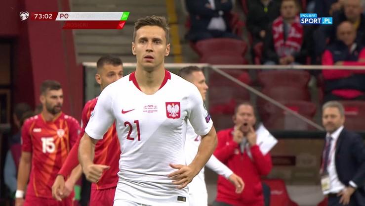 Polska - Macedonia Północna 1:0. Gol Frankowskiego