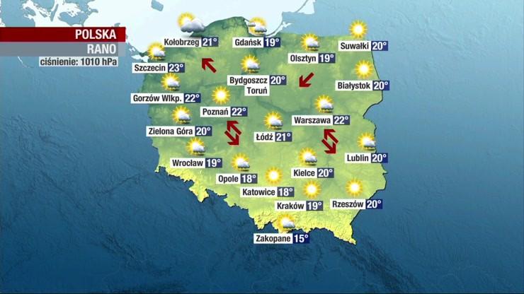 Prognoza pogody - sobota, 8 sierpnia - rano