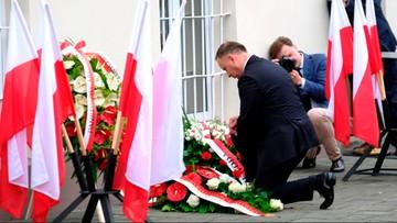 Prezydent oddał hołd Polakom z pierwszego transportu do Auschwitz