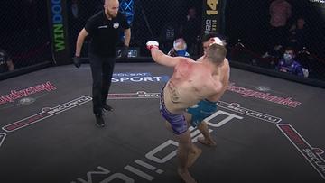 Babilon MMA 13: Brutalny nokaut Rajewskiego! Przeciwnik zniesiony na noszach (WIDEO)