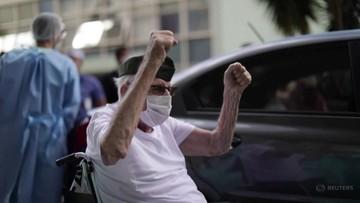 99-letni weteran wygrał walkę z koronawirusem
