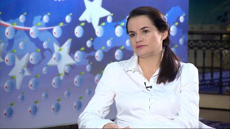 Usiądę do rozmów z Łukaszenką, jeśli będzie to konieczne - Cichanouska w Polsat News