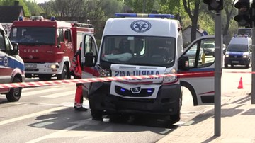 Wypadek karetki w Bielsku-Białej. Dzieci wśród poszkodowanych