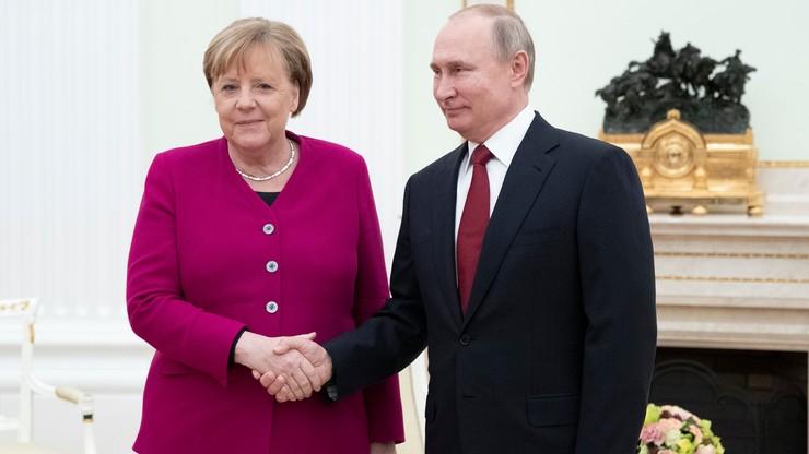 Spotkanie Putin- Merkel. Wśród tematów napięcia na Bliskim Wschodzie