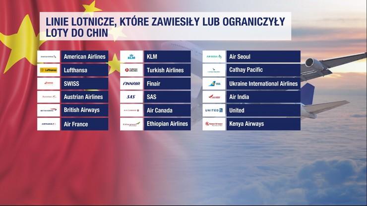 Linie lotnicze, które zawiesiły loty do Chin