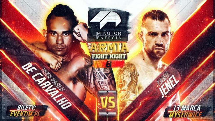 Minutor Energia Armia Fight Night 8: Kamil Jenel zawalczy z Joao Paulo de Carvalho!