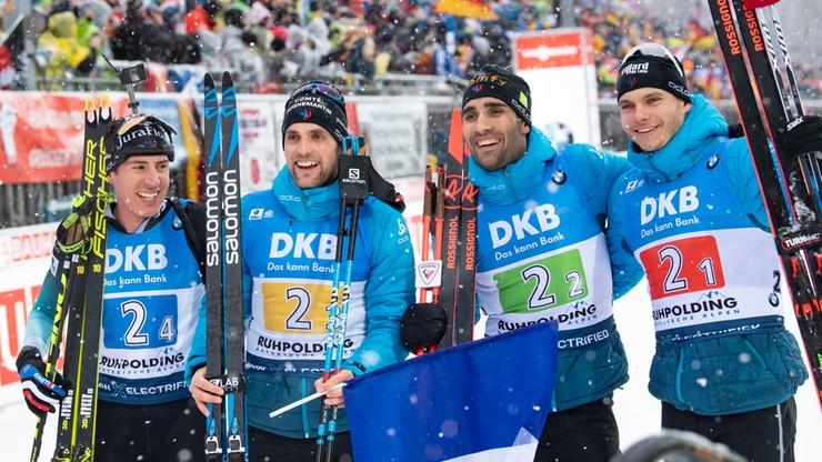 PŚ w biathlonie: Zwycięstwo Francji w sztafecie, Polacy na 13. pozycji
