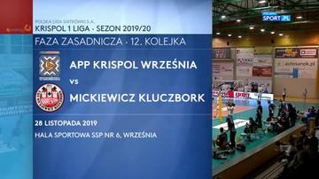 APP Krispol Września - Mickiewicz Kluczbork 3:0. Skrót meczu