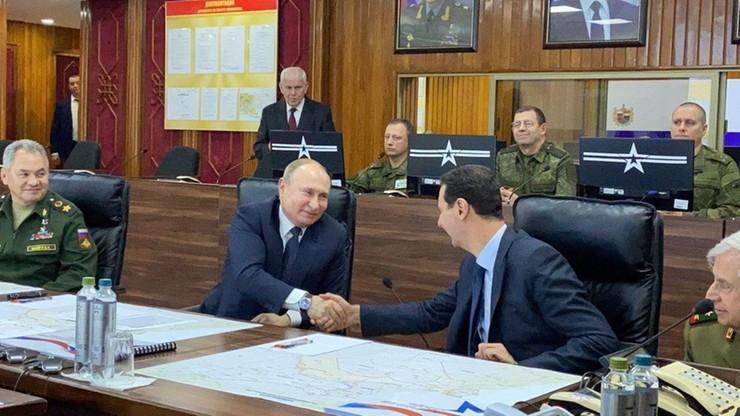 Putin z wizytą w Syrii. Spotkał się z Asadem
