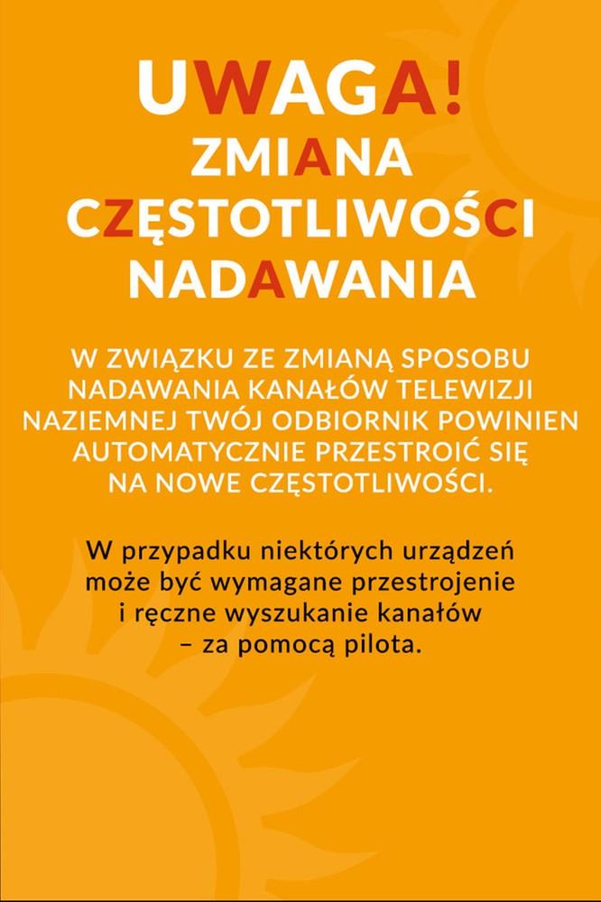 2020-06-03 Informacja dla widzów cyfrowej telewizji naziemnej - Polsatplay.pl