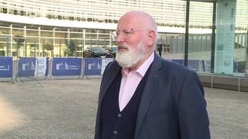 """""""Węgiel nie ma przyszłości, musimy się go pozbyć"""". Timmermans dla Polsat News"""
