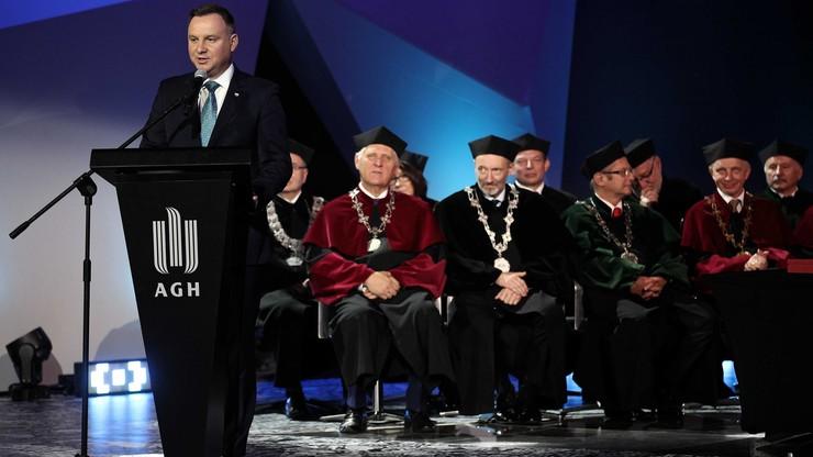 Uczelnia, która od stu lat wspiera polskie państwo - prezydent o Akademii Górniczo-Hutniczej