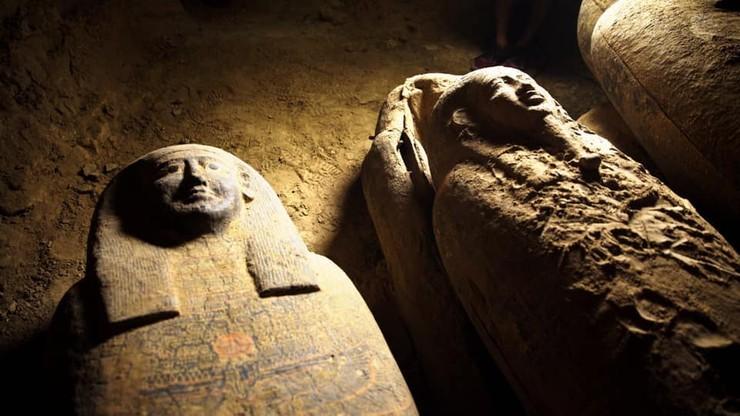 Zapieczętowane sarkofagi sprzed 2,5 tys. lat. Niezwykłe odkrycie w Egipcie
