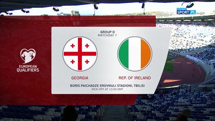 Gruzja - Irlandia 0:0. Skrót meczu