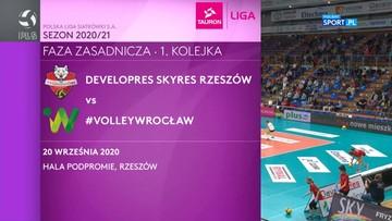 Developres SkyRes Rzeszów – #VolleyWrocław 3:1. Skrót meczu