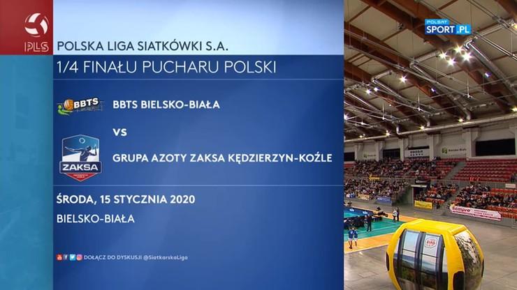 BBTS Bielsko-Biała - Grupa Azoty ZAKSA Kędzierzyn-Koźle 0:3. Skrót meczu