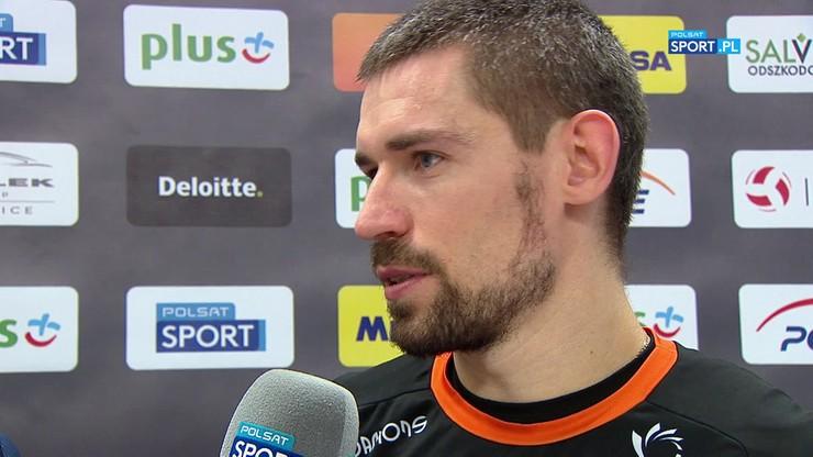 Konarski po wygranym meczu z PGE Skrą Bełchatów